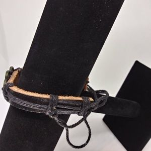 Jewelry - New Unisex Double Heart Leather Bracelet